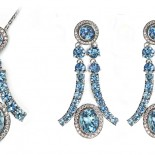 Aquamarine and Diamond Set